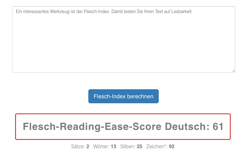Flesch-Index fürs Content Marketing nutzen